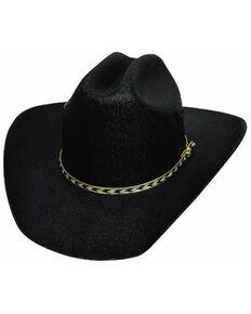 Bullhide Kids Black Linen Straw Western Hat , Black, hi-res