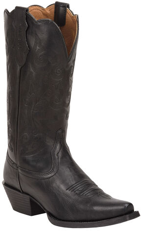 Justin Women's Farm & Ranch Tracy Black Cowgirl Boots - Snip Toe    , Black, hi-res