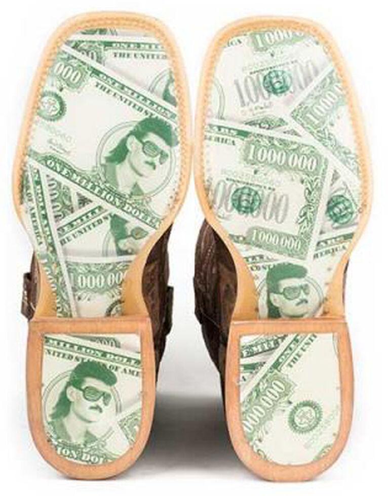 Tin Haul Million Dollar Mullet Cowboy Boots - Square Toe, Brown, hi-res