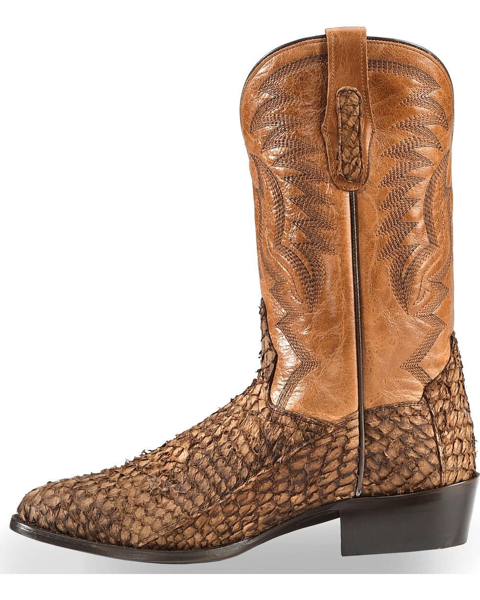 Dan Post Men's Chocolate Sea Bass Cowboy Boots - Medium Toe, Chocolate, hi-res