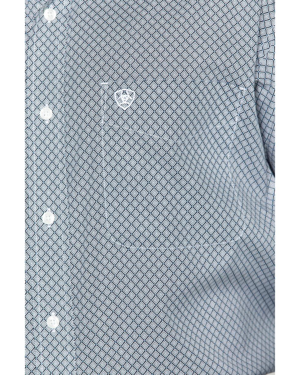 Ariat Men's Zemo Geo Print Long Sleeve Western Print , Black, hi-res
