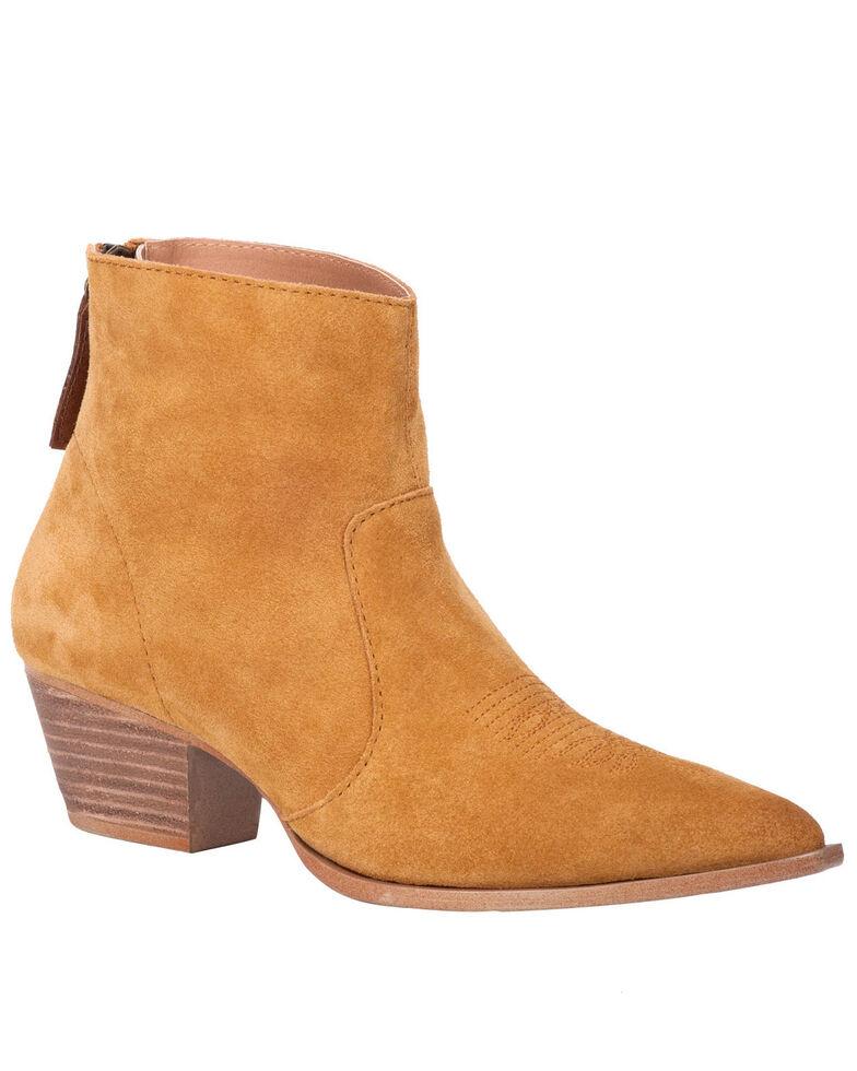 Dingo Women's Mustard Klanton Fashion Booties - Round Toe, Dark Yellow, hi-res
