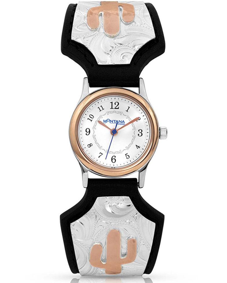 Montana Silversmiths Women's Endurance Cactus Prairie Watch, Silver, hi-res