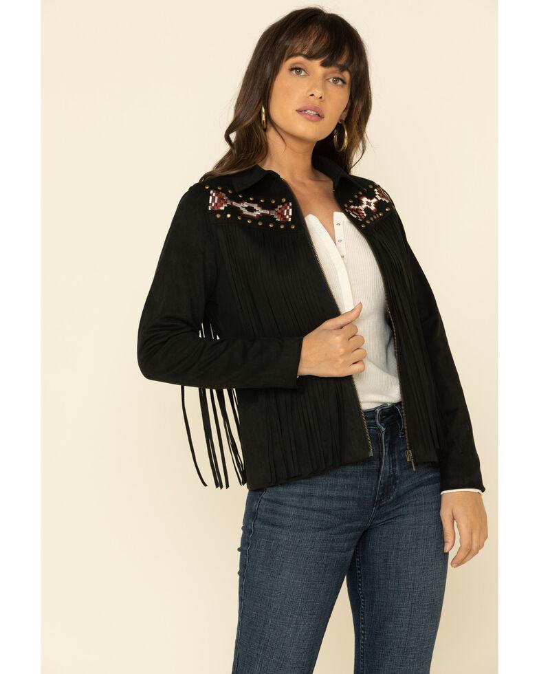 Idyllwind Women's Spell Fringe Jacket  , Black, hi-res