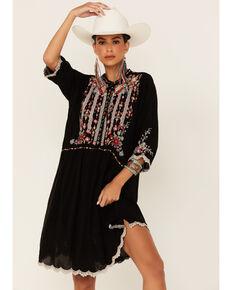 Johnny Was Women's Black Diega Tunic Dress , Black, hi-res