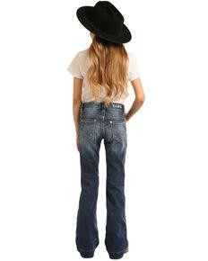 Rock & Roll Denim Girls' Medium Basic Trouser, Blue, hi-res