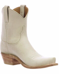 Lucchese Women's Gaby Glitz Cream Cowhide Western Boots - Snip Toe , Taupe, hi-res