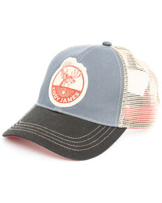 Cody James Men's Denim Deer Patch Cap , Blue, hi-res