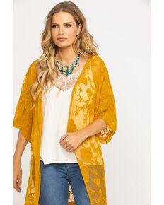 4c22273bc Jody of California Women's Lace Fringe Hem Kimono