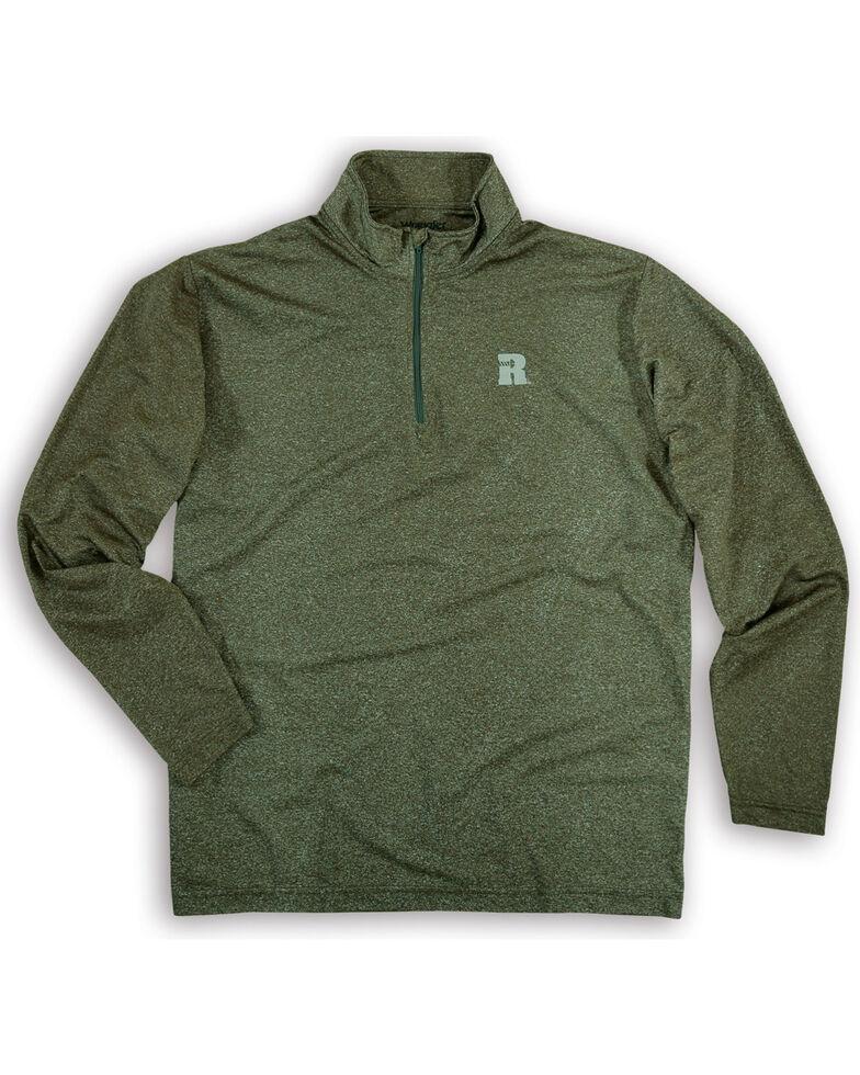 Wrangler Riggs Men's Olive Workwear 1/4 Zip Pullover , Olive, hi-res