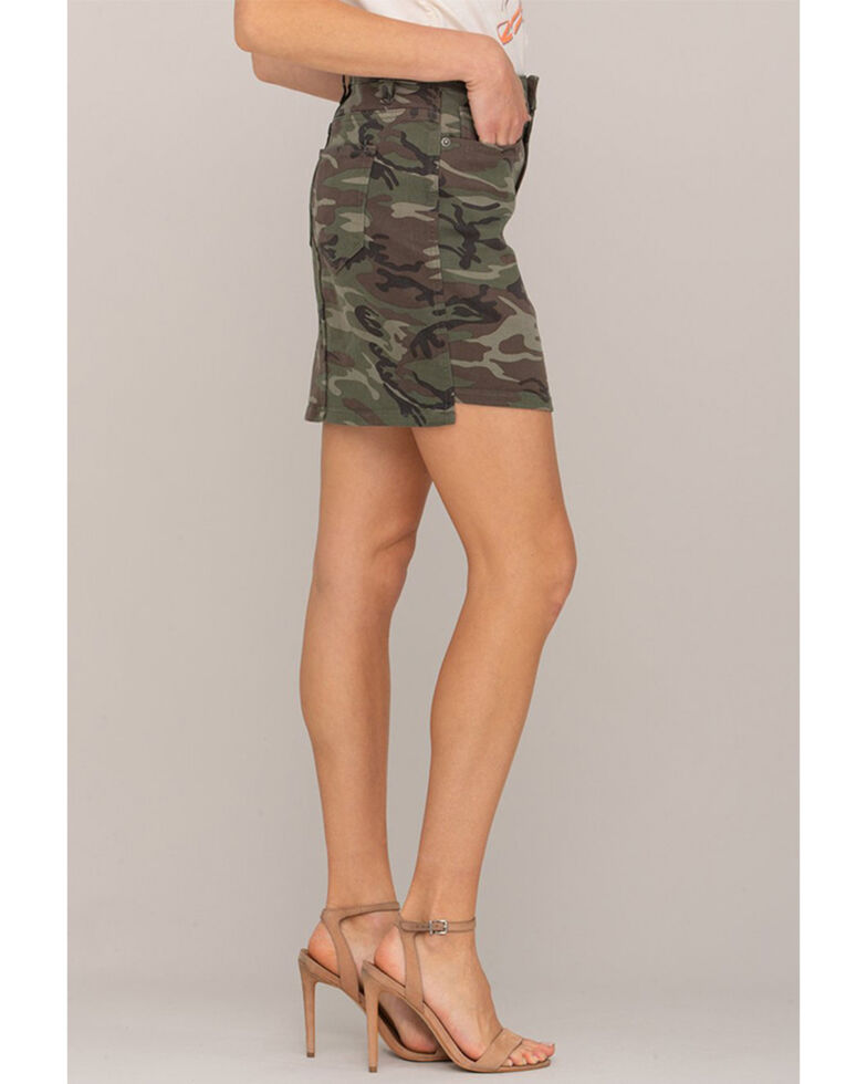 Miss Me Women's Olive Pleated Front Cami Top, Olive, hi-res