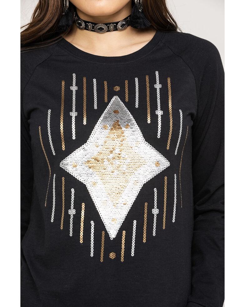 Ariat Women's Ace of Diamonds Shirt, Black, hi-res