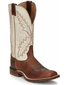 Tony Lama Men's Antonio Brown Western Boots - Wide Square Toe, Brown, hi-res