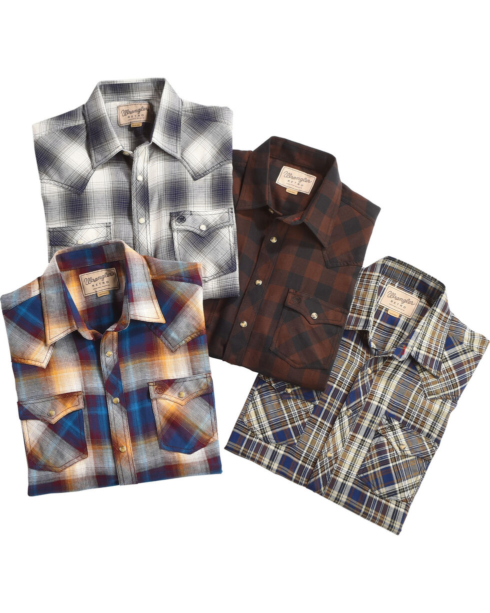 Wrangler Men's Retro Plaid Flannel Western Shirt , Multi, hi-res