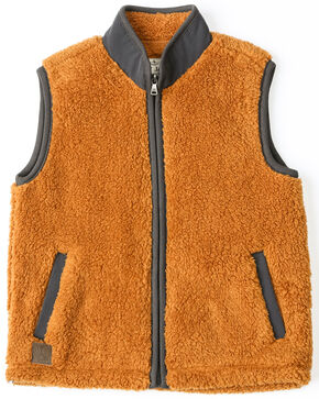 Cody James Toddler Boys' Yellowstone Solid Zip-Up Vest , Brown, hi-res