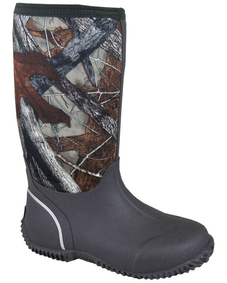Smoky Mountain Boys' Amphibian Camo Waterproof Boots, Brown, hi-res
