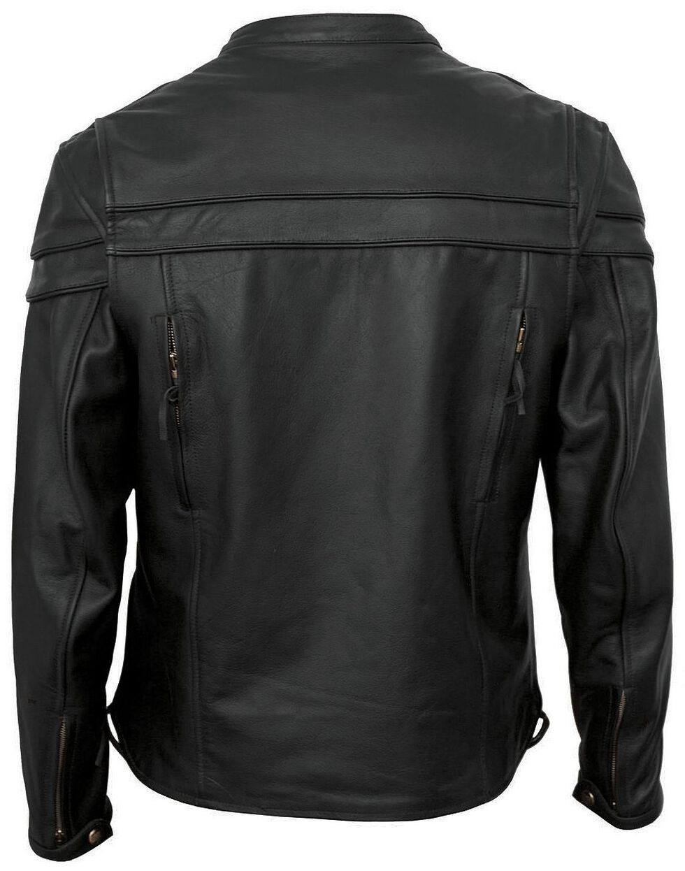 Interstate Leather Scooter Jacket - Big & Tall, Black, hi-res
