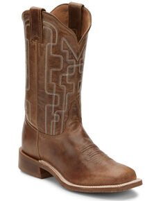 Tony Lama Women's Atchison Latte Western Boots - Wide Square Toe, Tan, hi-res