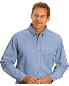 Wrangler Rugged Wear Long Sleeve Shirt, Stonewash, hi-res