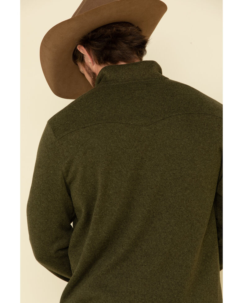 Stetson Men's Green Bonded Sweater Knit Pullover Sweatshirt , Green, hi-res