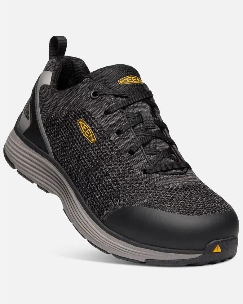 Keen Men's Sparta Work Boots - Aluminum Toe, Black, hi-res