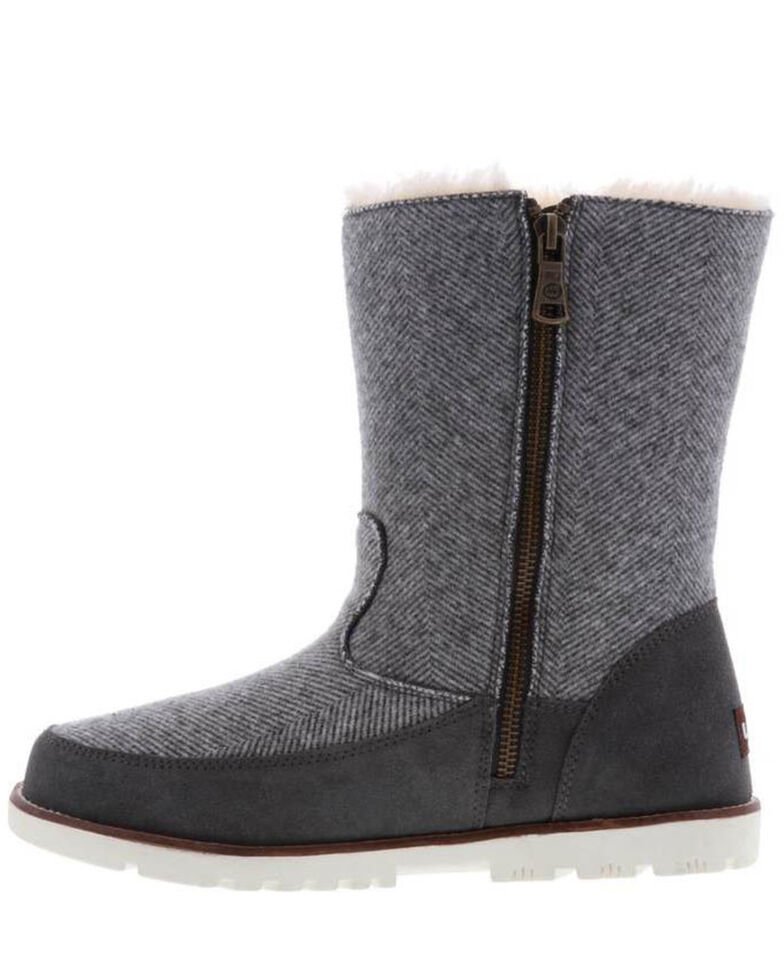 Lamo Women's Brighton Boots - Moc Toe, Charcoal, hi-res