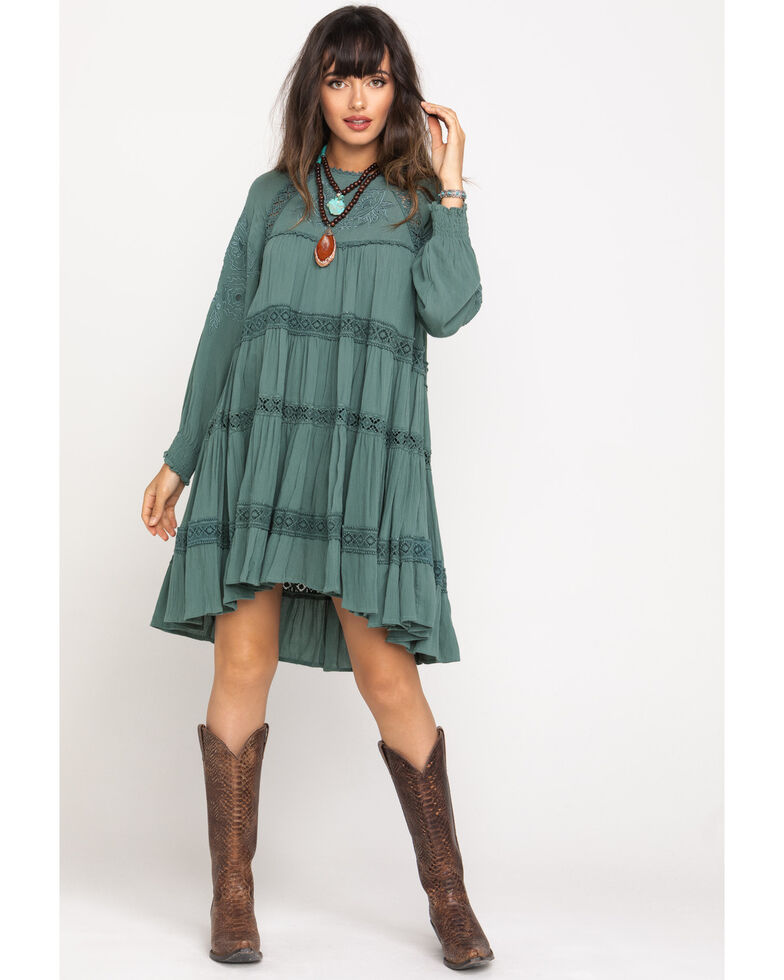 Free People Women's Piece Of Your Heart Mini Dress, Green, hi-res