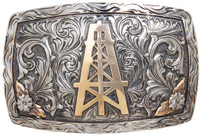 AndWest Laredo Vintage Oil Derrick Belt Buckle, Multi, hi-res