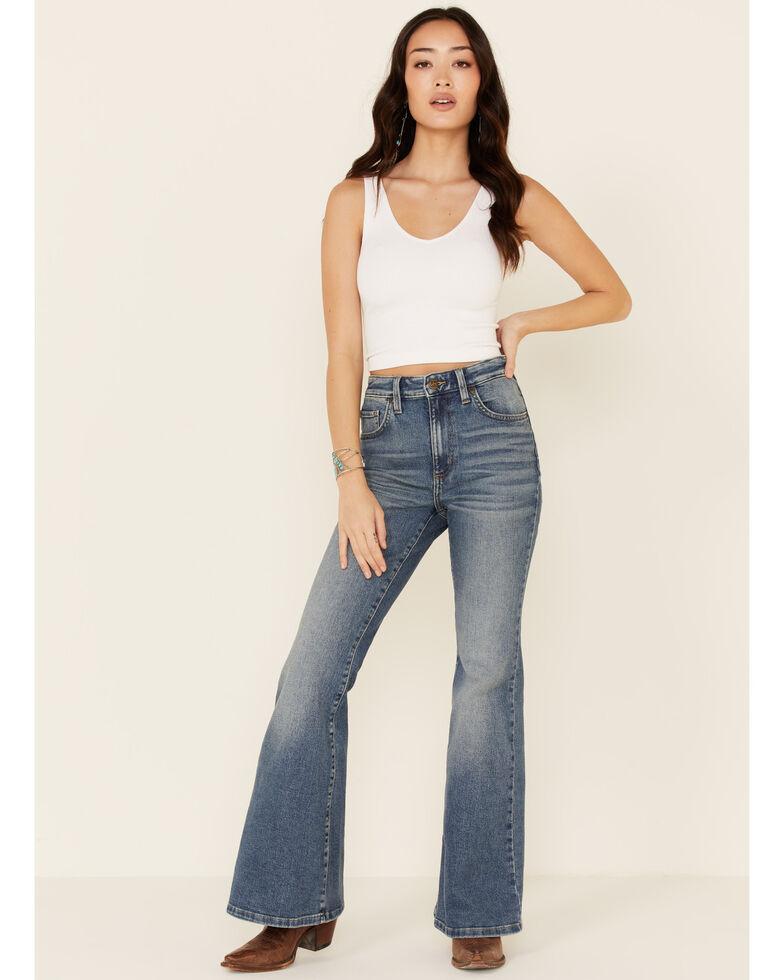 Lee Women's Horizon Flare Jeans, Blue, hi-res