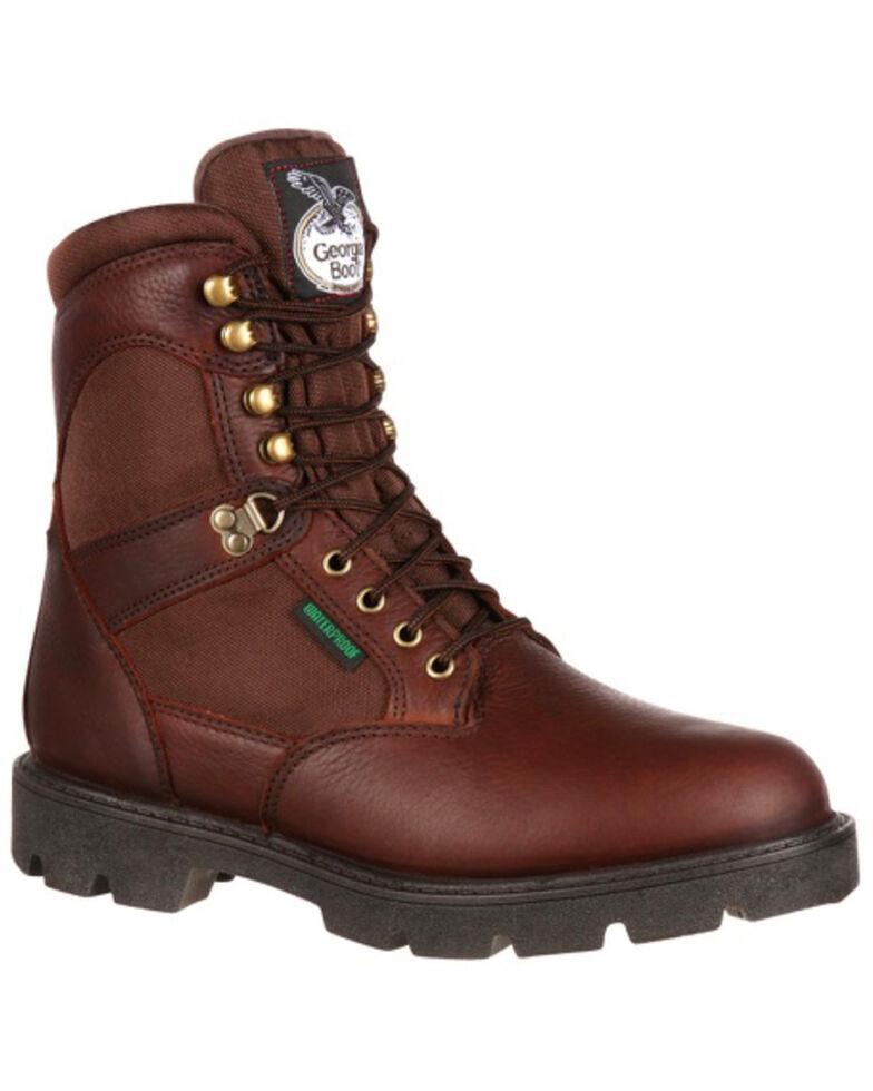 Georgia Boot Homeland Waterproof Work Boots - Steel Toe, Brown, hi-res