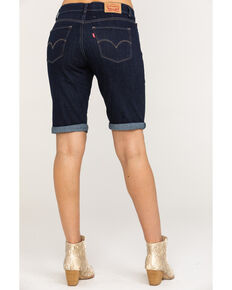 Levi's Women's Dark Wash Bermuda Shorts, Blue, hi-res