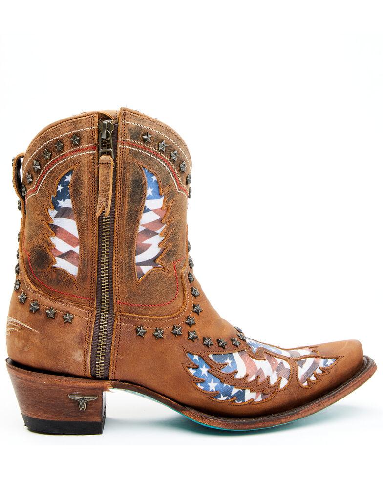 Lane Women's Old Glory Fashion Booties - Snip Toe, Caramel, hi-res