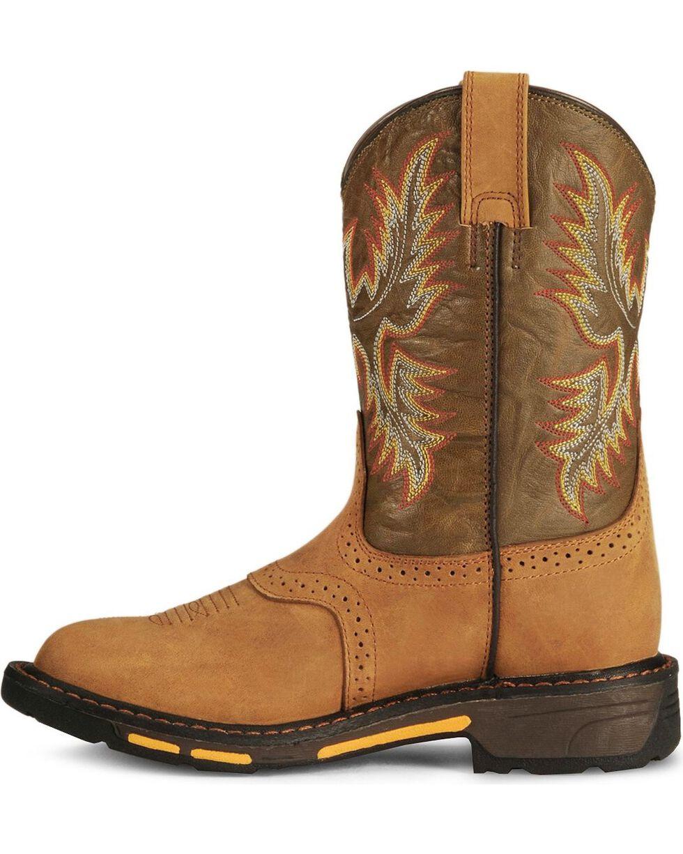 Ariat Youth Boys' Aged Bark Workhog Cowboy Boots, Aged Bark, hi-res