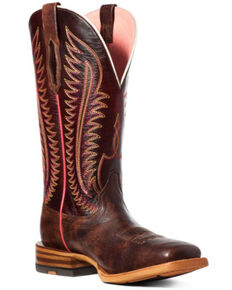 Ariat Women's Belmont Western Boots - Square Toe, Brown, hi-res