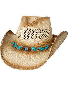 Bullhide Women's Doin' Natural Straw Cowgirl Hat, Natural, hi-res