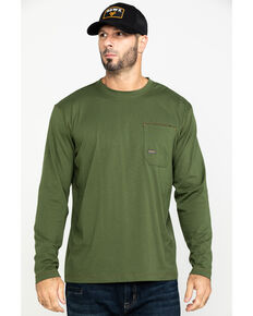 Ariat Men's Rebar Workman Long Sleeve Work Shirt - Big & Tall , Green, hi-res