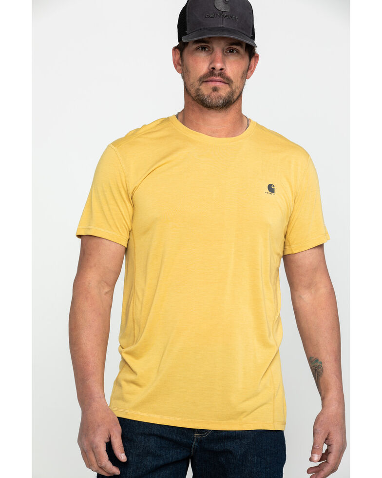 Carhartt Men's Force Extremes Lightweight Work T-Shirt , Yellow, hi-res
