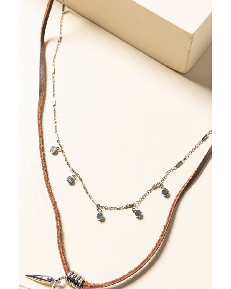 Idyllwind Women's Breaking The Rules Drop Necklace, Silver, hi-res