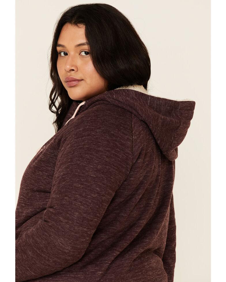 Ariat Women's Wine Tasting R.E.A.L. Sherpa Hoodie Sweatshirt - Plus, Wine, hi-res