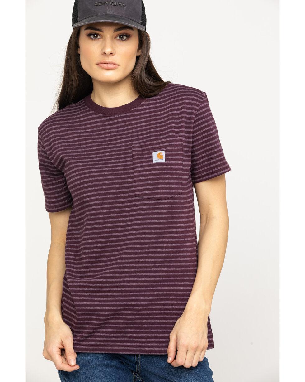 Carhartt Women's Wine Solid Workwear Pocket Work T-Shirt , Wine, hi-res