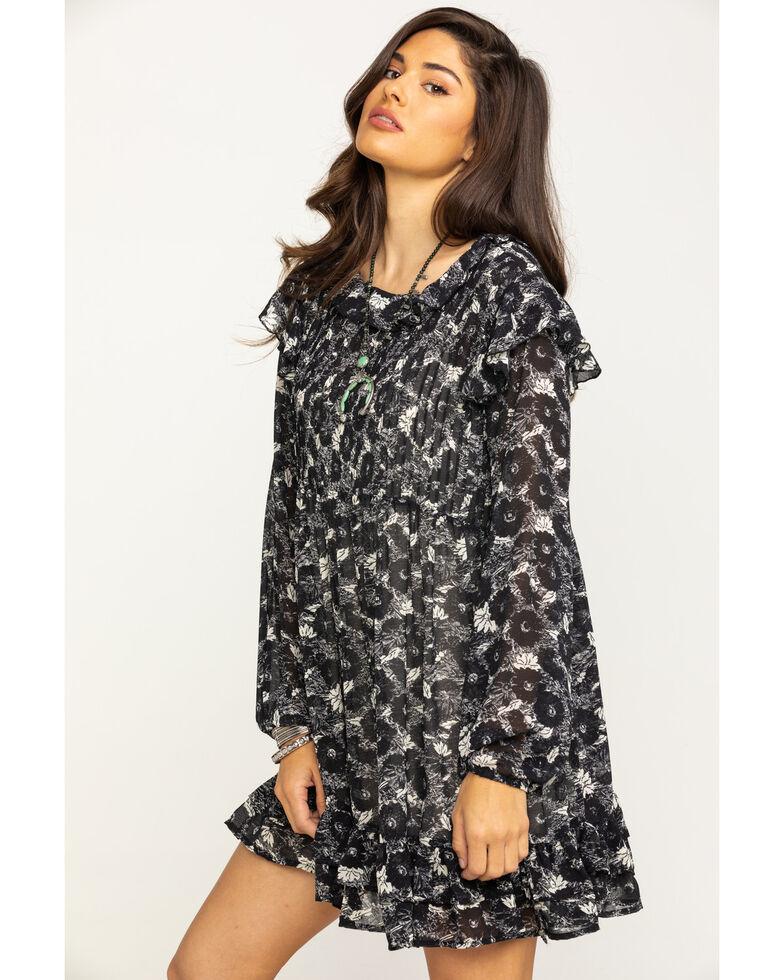 Free People Women's These Dreams Mini Dress, Black, hi-res
