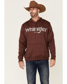 Wrangler Men's Burgundy Logo Hooded Pullover Sweatshirt , Burgundy, hi-res