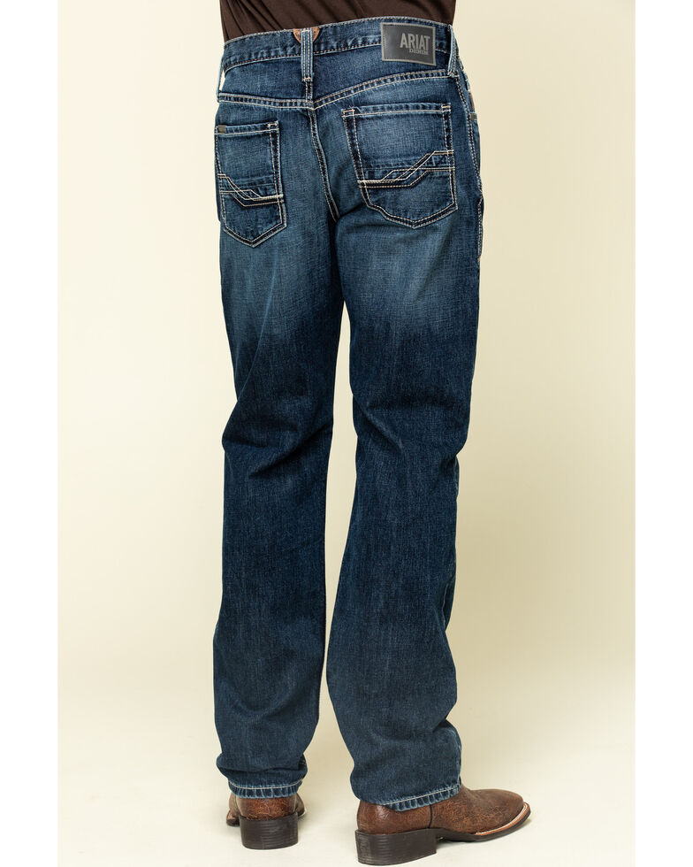 Ariat Men's M3 Bradford Dark Stackable Loose Straight Jeans , Blue, hi-res