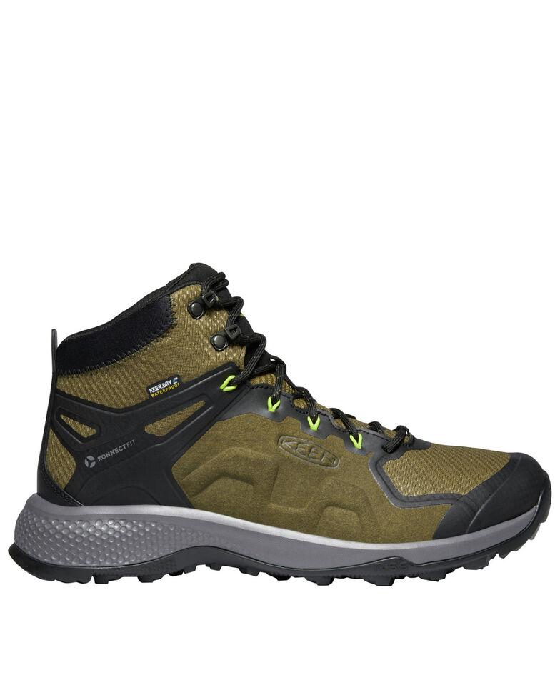 Keen Men's Explore Waterproof Hiking Boots - Soft Toe, Forest Green, hi-res