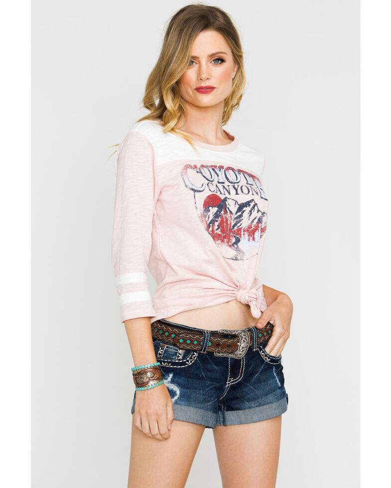 Shyanne Women's Coyote Canyon Football Tee  , Pink, hi-res