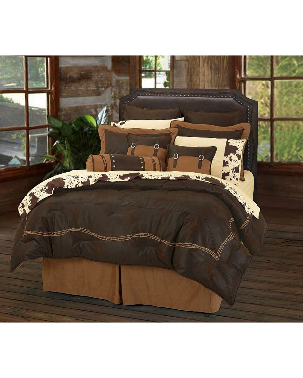HiEnd Accents Embroidered Barbwire 7-Piece Queen Comforter Set, Multi, hi-res