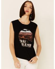 White Crow Women's Trail Blazer Desert Road Graphic Muscle Tank , Black, hi-res