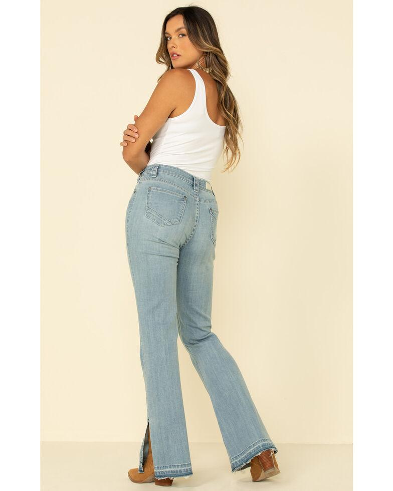 Rock & Roll Denim Women's Light Split Hem Trouser, Blue, hi-res