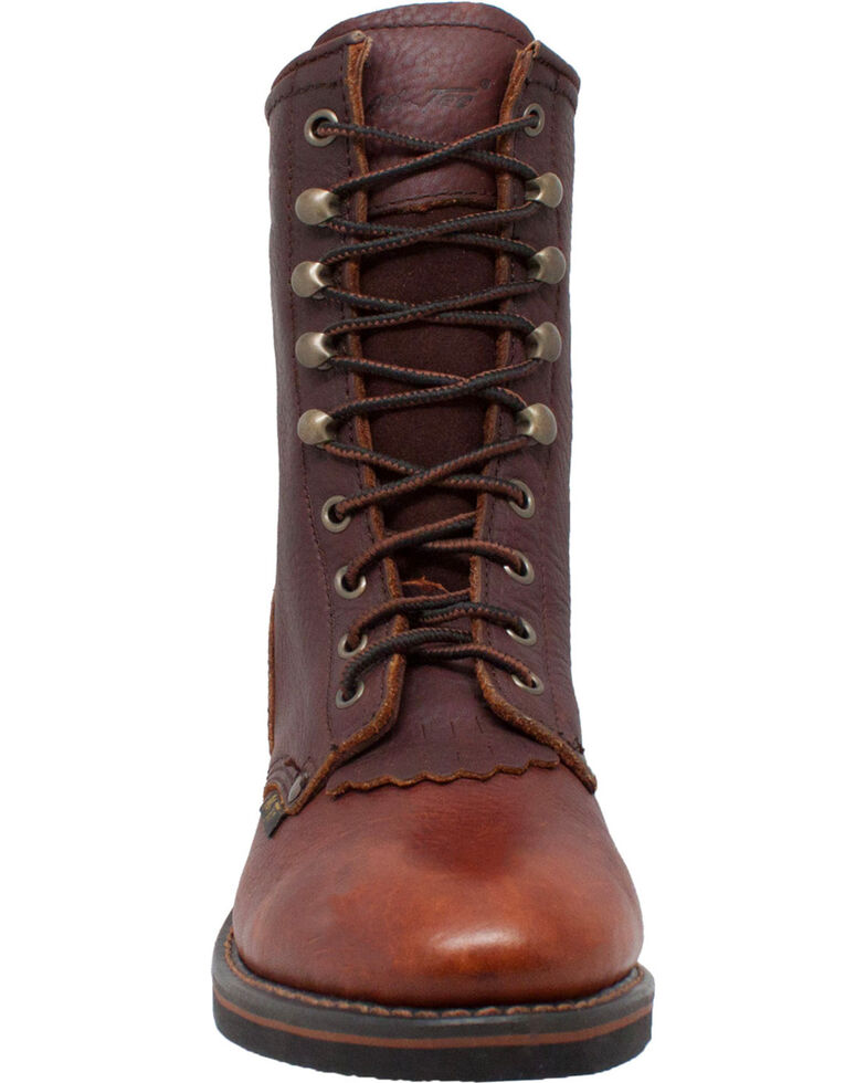 "Ad Tec Women's Chestnut 8"" Leather Packer Boots - Soft Toe, Chestnut, hi-res"