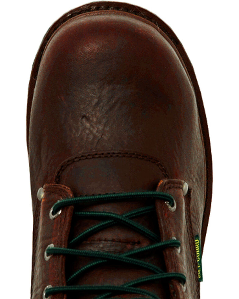 John Deere Men's Internal Met Guard Lace-Up Work Boots - Steel Toe, Brown, hi-res
